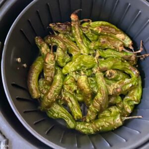 shishito peppers in air fryer after 4 minutes