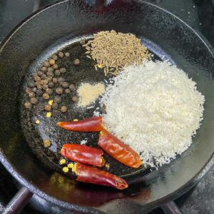 roasting the spices