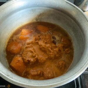 adding the ground masala paste