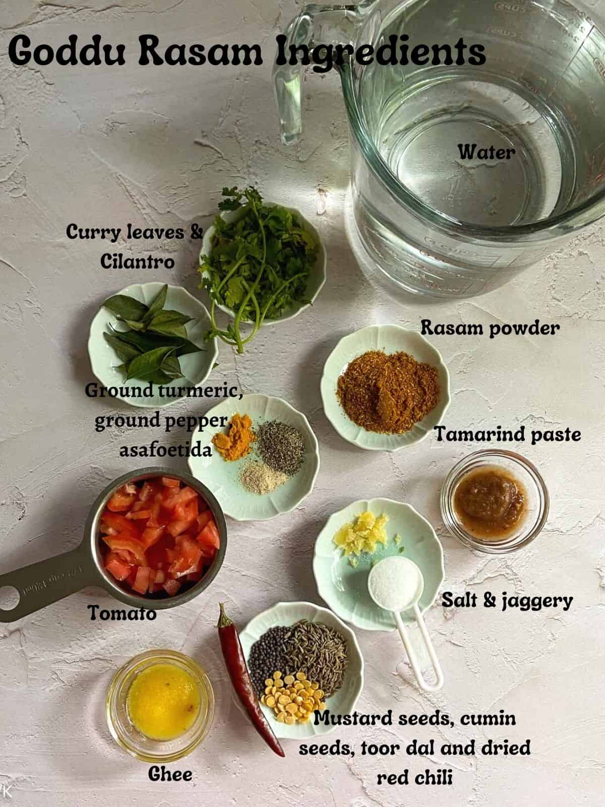 ingredients required for goddu rasam
