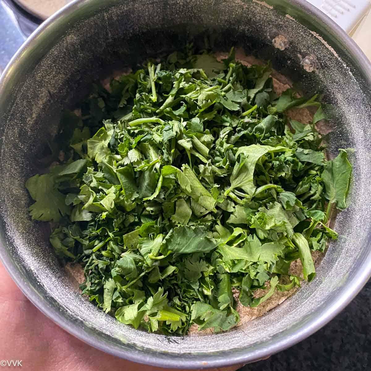 add the dried cilantro