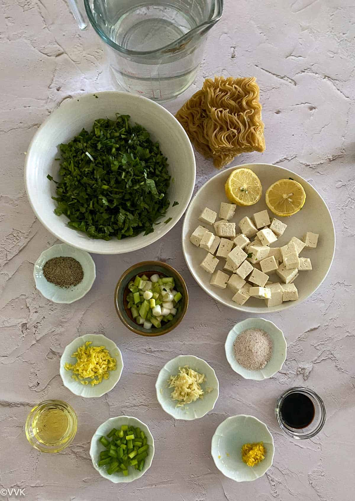 ingredients required for lemon cilantro noodle soup