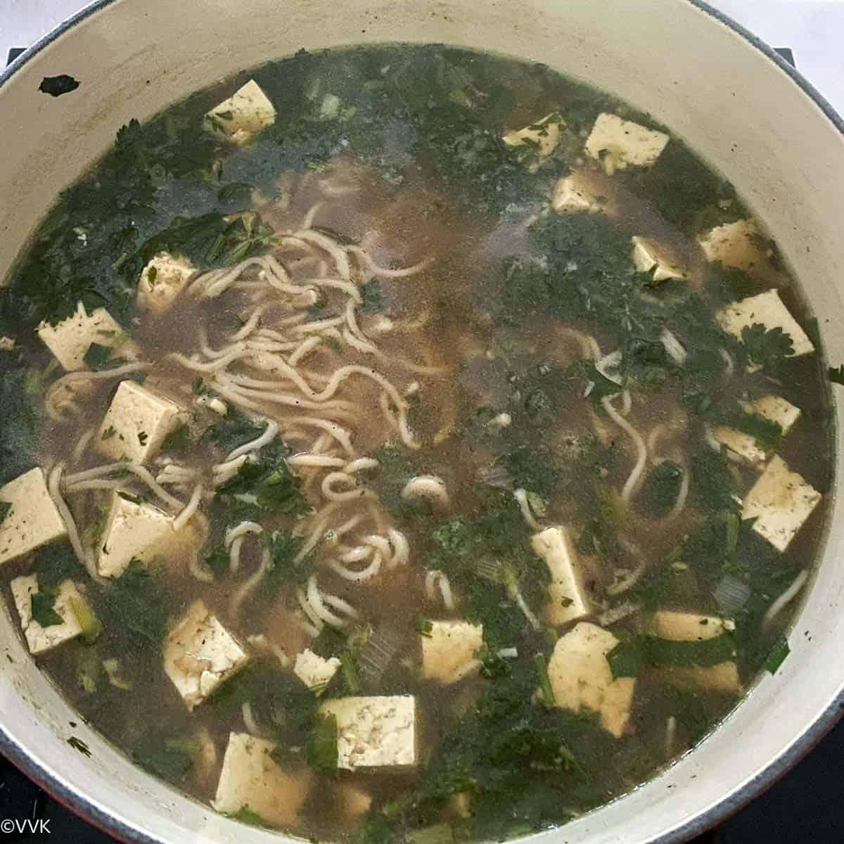 break the noodles