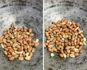 roasting the peanuts