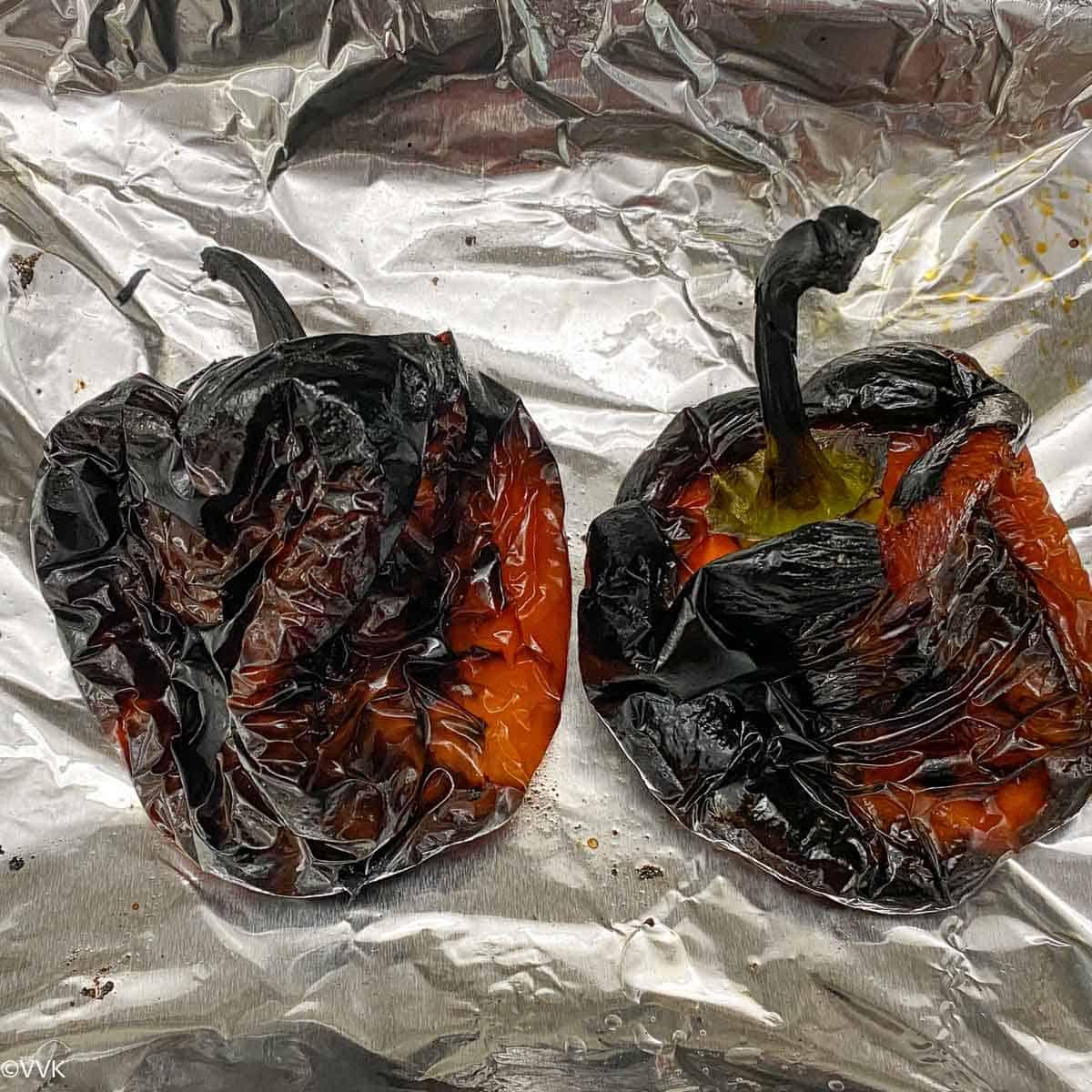 bell pepper before peeling